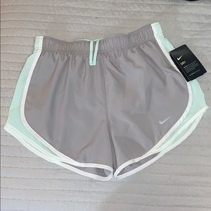 NWT Grey and turquoise Nike dri-fit shorts